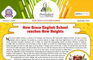 Penlighten with New Grace English School - Volume 1 - Issue 1 - September 2018